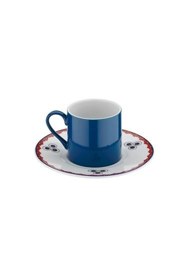 Kütahya Porselen Çintemani 9733 Desen Kahve Fincan Takımı Renkli